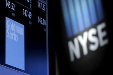 Дисплей с котировками акций на Нью-Йоркской фондовой бирже. REUTERS/Brendan McDermid/File Photo