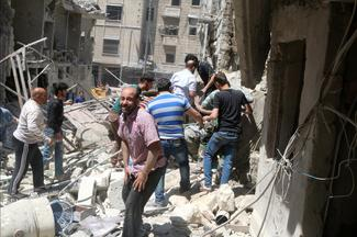 Airstrikes in Aleppo