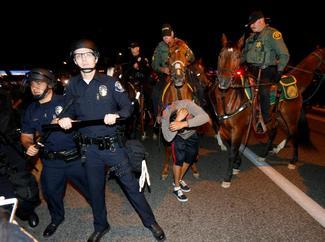 Trump California rally unrest