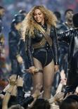 Beyoncé se apresenta no Super Bowl em Santa Clara.  7/2/2016.     REUTERS/Lucy Nicholson
