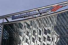 The Bank of America logo is seen at their offices at Canary Wharf financial district in London,Britain, in a March 3, 2016 file photo.  REUTERS/Reinhard Krause/Files