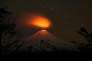 Chile's rare lava lake volcano