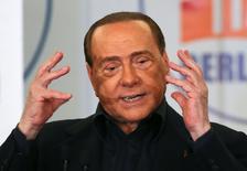 Ex-premiê italiano Silvio Berlusconi durante evento em Roma.   10/05/2016      REUTERS/Alessandro Bianchi