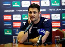 Rugby Union - Racing 92 Press Conference - The City Ground, Nottingham - 23/4/16 Racing 92's Dan Carter during the press conference Action Images via Reuters / John Clifton Livepic