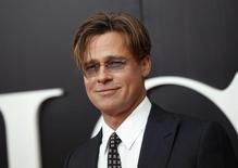 Brad Pitt durante evento em Nova York. 23/11/2015. REUTERS/Shannon Stapleton