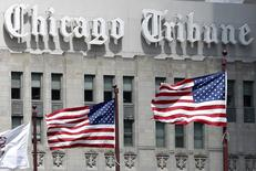 El edificio del Chicago Tribune, en Chicago, Illinois, Estados Unidos. 24 de abril de 2013. Gannett Co Inc, un grupo de medios que publica el periódico USA Today, elevó su oferta no solicitada por Tribune Publishing Co a 15 dólares por acción desde 12,25 dólares por acción, lo que valora a la firma responsable por los diarios Chicago Tribune y Los Angeles Times en cerca de 475 millones de dólares. REUTERS/Jim Young/File Photo