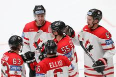 Ice Hockey - 2016 IIHF World Championship - Group B - Canada v France - St. Petersburg, Russia - 16/5/16 - Players of Canada celebrate a goal. REUTERS/Maxim Zmeyev