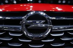 An Opel logo is pictured on the front of the Astra car during the second media day of the 86th International Motor Show in Geneva, Switzerland, March 2, 2016.   REUTERS/Denis Balibouse