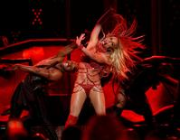 Millennium Award recipient Britney Spears performs a medley of songs at the 2016 Billboard Awards in Las Vegas, Nevada, U.S., May 22, 2016.  REUTERS/Mario Anzuoni