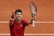 Novak Djokovic em partida de Roland Garros. 24/05/2016 REUTERS/Benoit Tessier