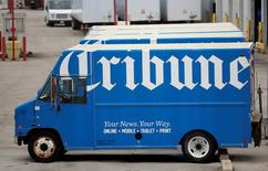 A Chicago Tribune delivery truck is seen in Chicago, Illinois, United States, May 11, 2016.     REUTERS/Jim Young