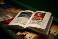 A copy of the book 'Hitler, Mein Kampf. A Critical Edition' lies on a display table in a bookshop in Munich, Germany January 8, 2016.   REUTERS/Michael Dalder  TPX