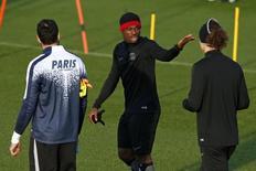 Serge Aurier durante treino do PSG.     07/12/2015      REUTERS/Benoit Tessier / Reuters