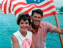 """Ronald and Nancy Reagan, 1964"" image showing The Reagans aboard an unidentified boat in this 1964 photo released on June 1, 2016.    Courtesy The Ronald Reagan Presidential Foundation/Handout via REUTERS"