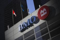 The logo for the Bank of Montreal is seen at its branch Toronto, March 5, 2013. ss. REUTERS/Mark Blinch (CANADA - Tags: BUSINESS POLITICS LOGO)