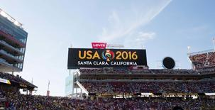 A general view of signage prior to the match between the United States and the Colombia during the group play stage of the 2016 Copa America Centenario at Levi's Stadium. Mandatory Credit: Kelley L Cox-USA TODAY Sports