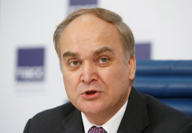 Russian Deputy Defence Minister Anatoly Antonov speaks to the media during a news conference in Moscow March 5, 2015. REUTERS/Sergei Karpukhin
