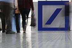 Deutsche Bank a enterré son projet de création de services bancaires numériques aux Etats-Unis, selon une note du président du directoire, John Cryan, publiée lundi. /Photo prise le 19 mai 2016/REUTERS/Kai Pfaffenbach