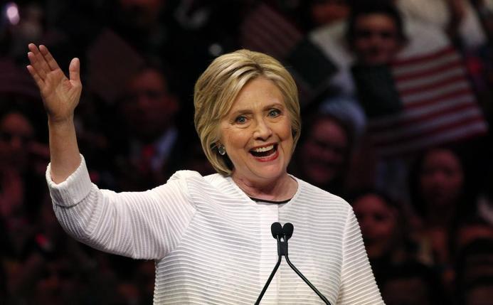 Clinton hails a milestone as she clinches Democratic nomination