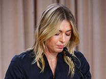 Mar 7, 2016; Los Angeles, CA, USA; Maria Sharapova speaks to the media announcing a failed drug test after the Australian Open during a press conference today at The LA Hotel Downtown. Mandatory Credit: Jayne Kamin-Oncea-USA TODAY Sports      TPX IMAGES OF THE DAY
