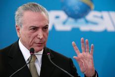 Presidente interino Michel Temer durante evento no Palácio do Planalto, Brasília.    01/06/2016      REUTERS/Ueslei Marcelino