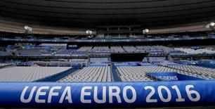 A general view shows the Stade de France in Saint-Denis before the start of the UEFA 2016 European Championship in Paris, France, June 8, 2016. REUTERS/Gonzalo Fuentes