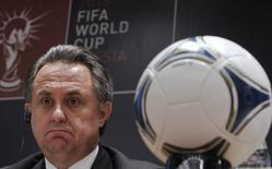Министр спорта России Виталий Мутко на пресс-конференции 30 сентября 2012 года в Москве. Мутко назвал обвинения местью за выбор России для чемпионата мира по футболу-2018 REUTERS/Maxim Shemetov