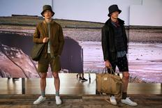 Models present creations at the Barbour presentation at London Collections Men in London, Britain June 10, 2016. REUTERS/Neil Hall
