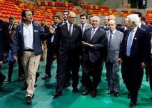 Presidente interino Michel Temer, em visita a instalações dos Jogos do Rio  14/6/2016 REUTERS/Sergio Moraes