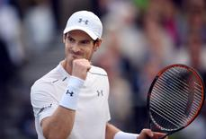 Britain Tennis - Aegon Championships - Queens Club, London - 14/6/16 Great Britain's Andy Murray celebrates winning his first round match Action Images via Reuters / Tony O'Brien
