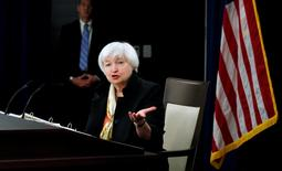 U.S. Federal Reserve Chair Janet Yellen holds a news conference following the Fed's two-day Federal Open Market Committee (FOMC) policy meeting in Washington, June 15, 2016. REUTERS/Kevin Lamarque