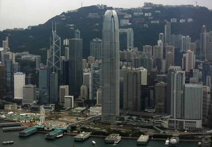 2015年7月9日,图为香港中环金融区远景。REUTERS/Bobby Yip