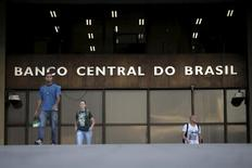 La sede del Banco Central de Brasil, en Brasilia. 23 de septiembre de 2015. El sistema financiero de Brasil es sólido y está bien capitalizado, y las autoridades cuentan con herramientas suficientes para regular el sector, dijo el jueves el director de fiscalización del banco central brasileño, Anthero Meirelles. REUTERS/Ueslei Marcelino