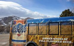A tour bus is parked outside the Coors brewery in Golden, Colorado February 12, 2014. REUTERS/Rick Wilking