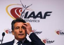 Presidente da IAAF, Sebastian Coe em reunião em Viena  17/6/ 2016  REUTERS/Leonhard Foeger