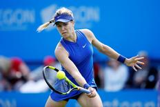 Britain Tennis - Aegon International - Devonshire Park, Eastbourne - 22/6/16 Canada's Eugenie Bouchard in action during the third round Action Images via Reuters / Peter Cziborra Livepic