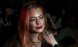 Lindsay Lohan durante Fashion Week de Londres. 19/9/2015. REUTERS/Suzanne Plunkett