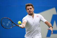 Britain Tennis - Aegon Championships - Queens Club, London - 14/6/16 Switzerland's Stan Wawrinka in action during the first round Action Images via Reuters / Tony O'Brien Livepic
