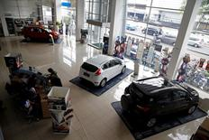 An aerial view shows the Ford showroom in Jakarta, Indonesia, June 27, 2016. REUTERS/Beawiharta