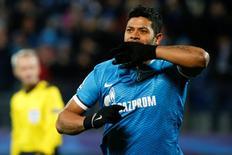 Atacante Hulk, do Zenit de São Petersburgo.    20/10/2015          REUTERS/Grigory Dukor