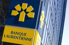 The logo of Laurentian Bank is seen at its head offices in Montreal, April 1, 2015. REUTERS/Christinne Muschi