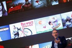 Reed Hastings, co fundador y CEO de Netflix, durante una conferencia de prensa en Seúl, Corea del Sur. 30 de junio de 2016. Netflix Inc seguirá buscando la posibilidad de entrar a China, dijo el jueves un alto funcionario de la compañía, mientras que el servicio de transmisión simultánea de video busca aumentar su base de suscriptores fuera de Estados Unidos. REUTERS/Kim Hong-Ji