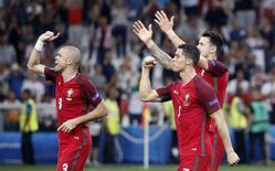 Portugal vence Polônia nos pênaltis na Euro. 30/6/16.  REUTERS/Christian Hartmann