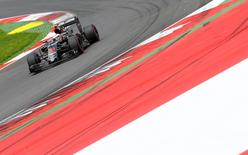 Formula One - Grand Prix of Austria - Spielberg, Austria - 2/7/16 -  McLaren Honda Formula One driver Jenson Button of Britain drives during the qualifying session. REUTERS/Dominic Ebenbichler