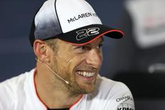 Britain Formula One - F1 - British Grand Prix 2016 - Silverstone, England - 7/7/16 McLaren's Jenson Button during the press conference Action Images via Reuters / Matthew Childs