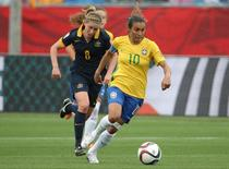 Marta durante jogo do Brasil contra a Austrália. 21/6/2015.  Reuters/Matt Kryger-USA TODAY Sports