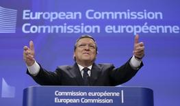 Outgoing European Commission President Jose Manuel Barroso addresses a news conference at the EU Commission headquarters in Brussels October 29, 2014.   REUTERS/Francois Lenoir