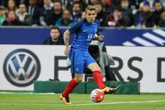 Lateral-esquerdo Lucas Digne durante partida da seleção francesa no Stade de France, em Saint-Denis.    29/03/2016     REUTERS/Charles Platiau