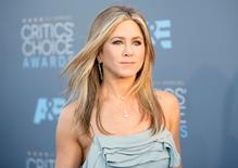 Actress Jennifer Aniston arrives at the 21st Annual Critics' Choice Awards in Santa Monica, California, U.S. on January 17, 2016.  REUTERS/Danny Moloshok/File Photo