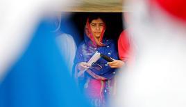 Ativista paquistanesa Malala Yousafzai durante evento na fronteira entre Quênia e Somália.   12/07/2016        REUTERS/Thomas Mukoya